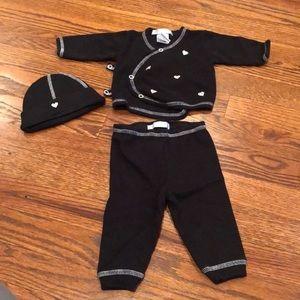 Baby Steps kimono top, pants, and hat
